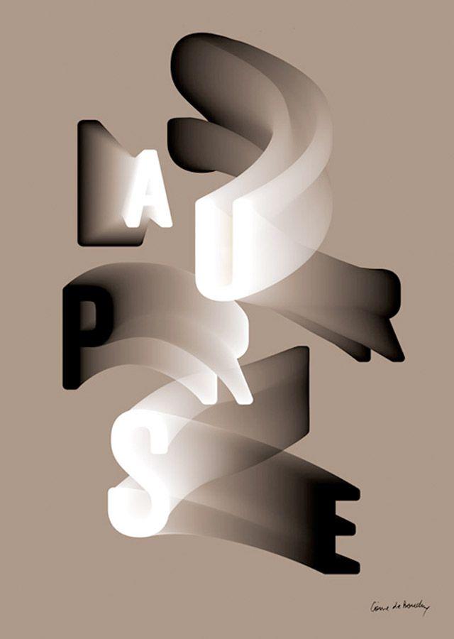 Interesting typography layout + movement.
