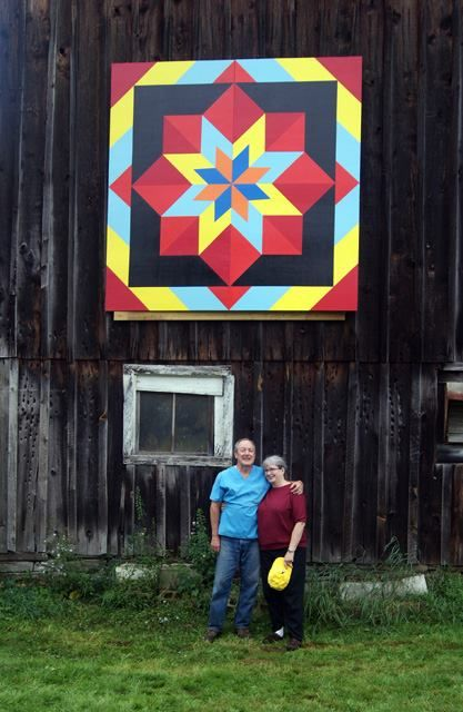 striking colors on this barn quilt