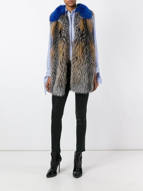Blancha manteau de fourrure sans manches