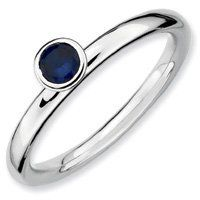 0.32ct Silver Stackable High 4mm Round Sapphire Ring. Sizes 5-10 Available Jewelry Pot. $22.99. 30 Day Money Back Guarantee. All Genuine Diamonds, Gemstones, Materials, and Precious Metals. 100% Satisfaction Guarantee. Questions? Call 866-923-4446. Fabulous Promotions and Discounts!. Your item will be shipped the same or next weekday!