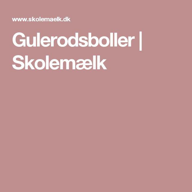Gulerodsboller | Skolemælk
