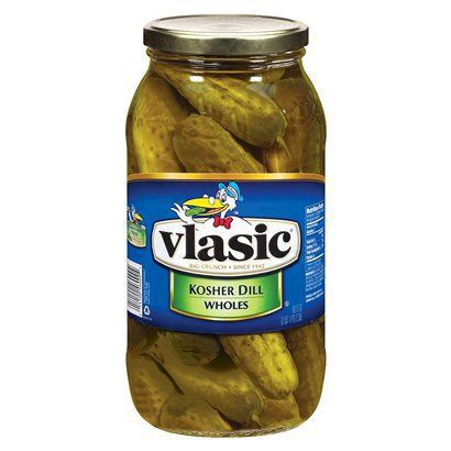 I like buying the BIG glass jar of pickles.  Not only do I get a tasty treat, I get a beautiful jar that I can use to store certain foods in my pantry.  Storage in food grade buckets, current use items in glass jars.  They make a gallon jar also, but they are harder to find.