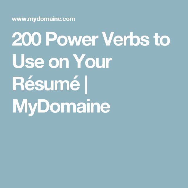 200 Power Verbs to Use on Your Résumé | MyDomaine