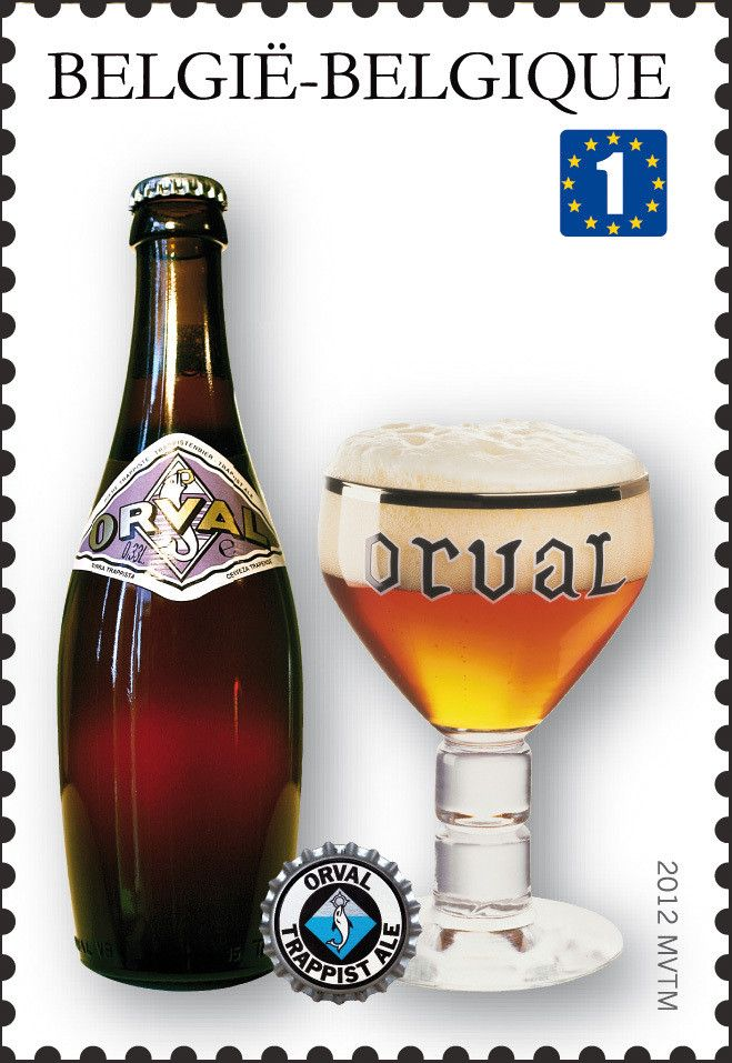 Sello: Trappist Beers: Orval (Bélgica) (Trappist beers) Mi:BE 4243,Bel:BE 4197