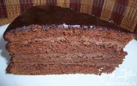 """Торт """"Прага""""   Кулинарные рецепты от «Едим дома!»"""