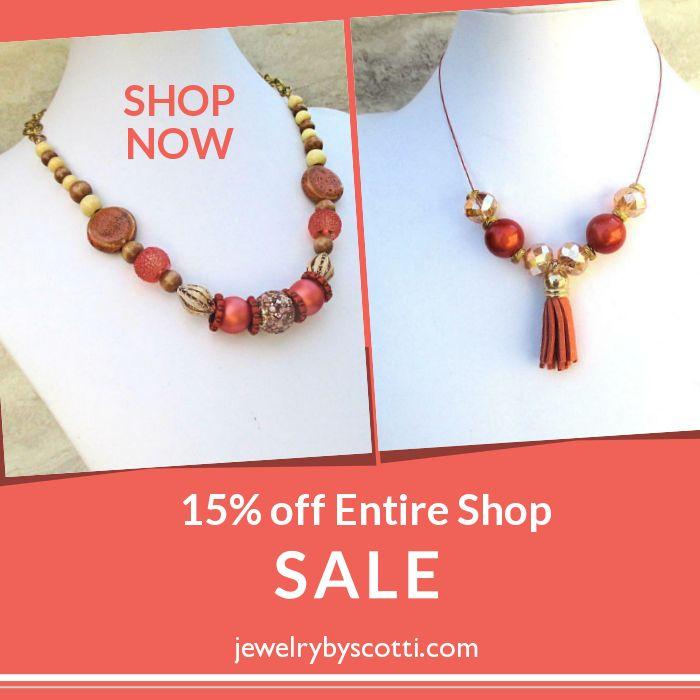 15% off -- SALE! Click ad to shop now: https://small.bz/AAoc8jK #handmadejewelry #sale #jewelryonsale #jewelrysale https://www.etsy.com/shop/JewelryByScotti