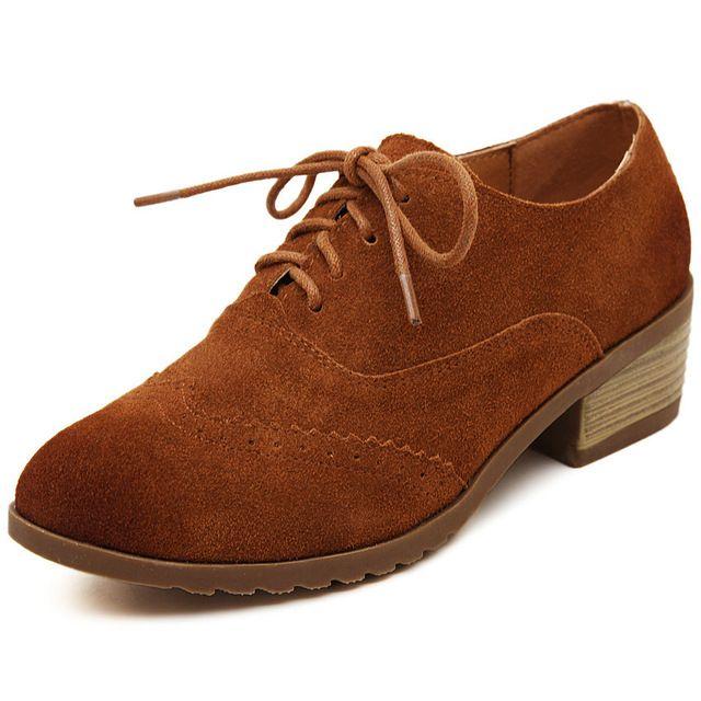 Novo Do Vintage de Couro Genuíno Sapatos Oxford Para As Mulheres Da Moda Baixo Salto Grosso Oxfords de Couro De Vaca Mulheres Senhoras Sapatas Da Escola Campus