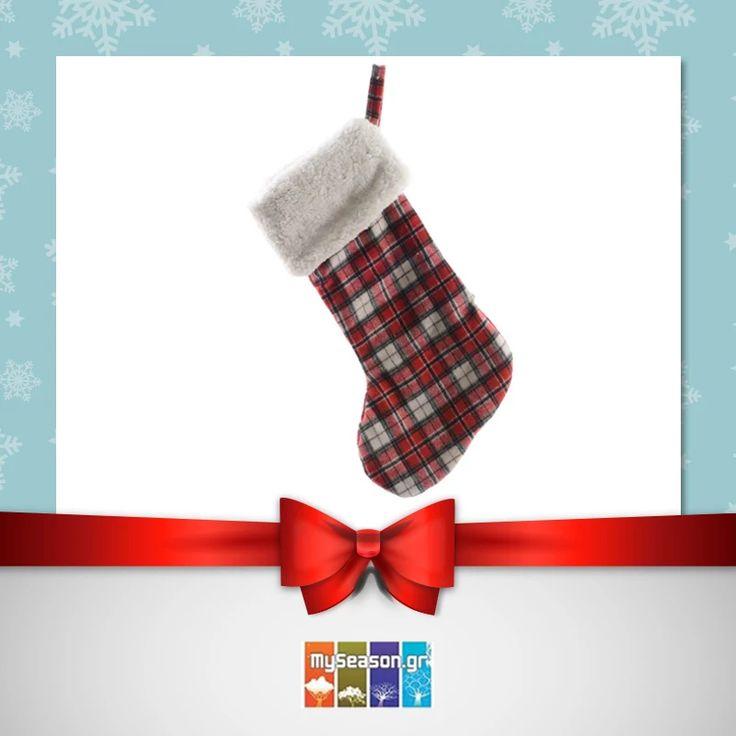 Χριστουγεννιάτικη διακοσμητική κάλτσα από το #MySeason για να στολίσετε το τζάκι σας (και όχι μόνο) για να την γεμίσει ο Άη-Βασίλης με όμορφα δώρα! 🎅🎁  https://goo.gl/0xdFCK  #christmas #christmas2016 #christmasshopping #christmasdecor #xmasdecor #holiday #festiveseason
