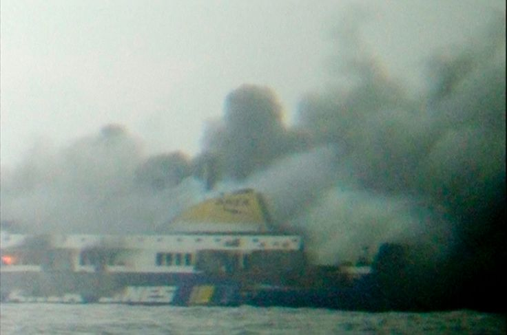 Passengers rescued from Italian ferry fire