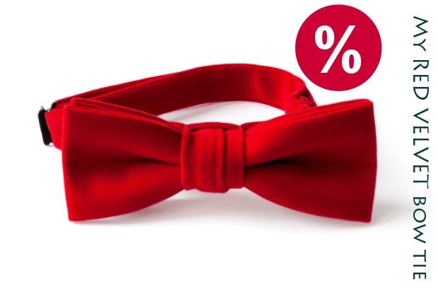 MY RED VELVET BOW TIE (42 LEI la papioane.papi.breslo.ro)