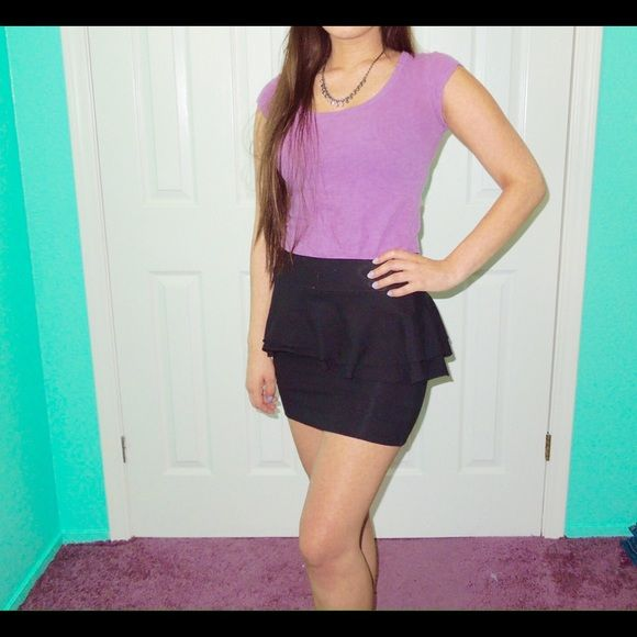 bOgOPeplum skirt Black peplum skirt. Stretchy. Excellent conditions. •NoTrades• PacSun Skirts Pencil