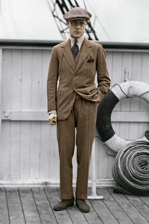 Edward Albert Christan George Andrew Patrick David, Prince of Wales, later King Edward VIII and Duke of Windsor.