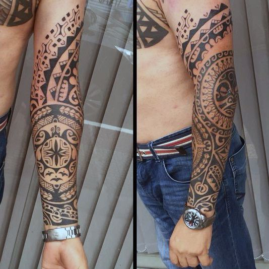 Manly Mens Tribal Tattoos Forearm