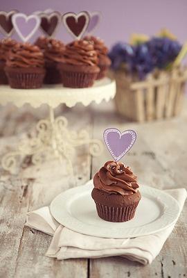 chocolate cupcakes!! :)