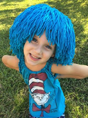 Create Kids Couture: Day 2: Yarn Wig Tutorial                                                                                                                                                                                 More