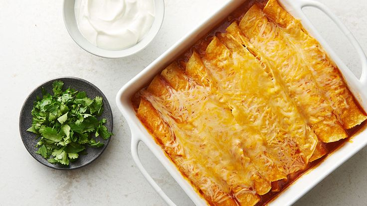 We take Mexican food seriously, and these microwave enchiladas are seriously amazing. We're talking bubbly, cheesy, just-like-the-real-deal chicken enchiladas, 20 minutes start to finish and no oven required. Tasting is believing.