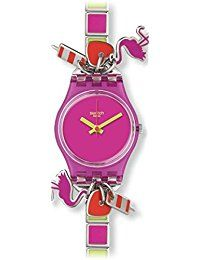 Swatch ladies watch with flamingo charms