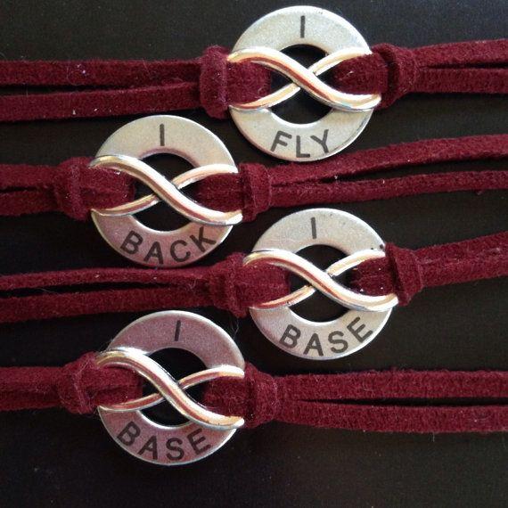 Cheerleading Stunt Group Forever Bracelets Set of 4