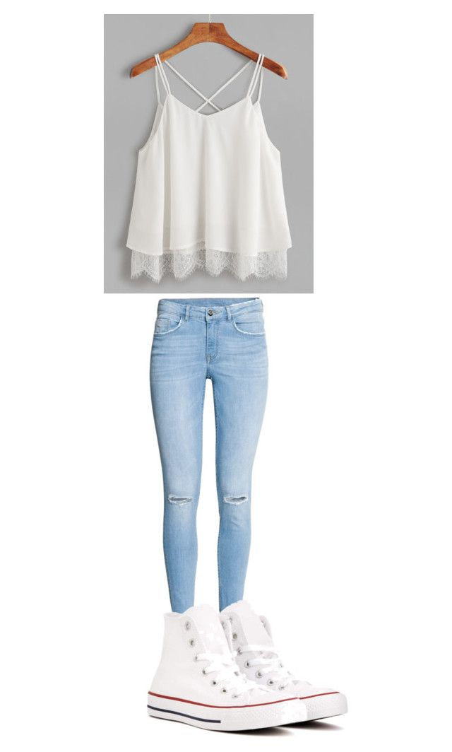 """""""School"""" by princessdarkness1105 on Polyvore featuring Converse"""