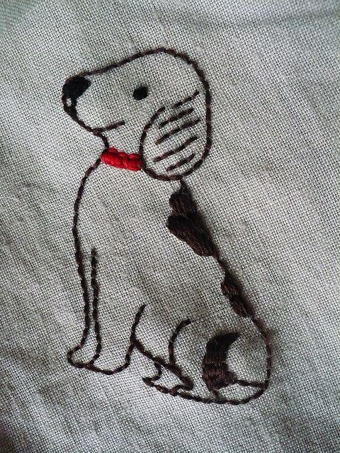 dog pattern embroidery
