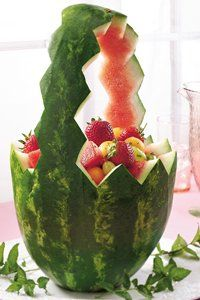 Minted Watermelon Baskets  (great for bridal showers)