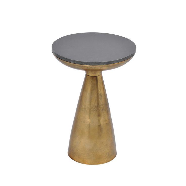 Aurelle Home Metal Side Table (Metal Side Table), Brown