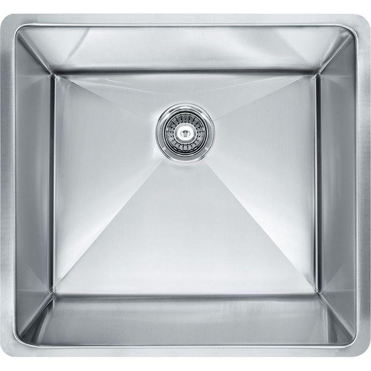 Franke Planar 8 Undermount Steel PEX110-21 Stainless Steel (Silver) Kitchen Sink (Stainless Steel)