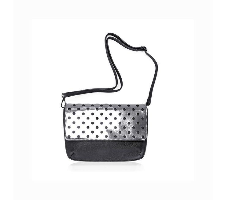 Stříbrná kabelka s puntíky | modino.cz #modino_cz #modino_style #style #fashion #acessories #doplnky