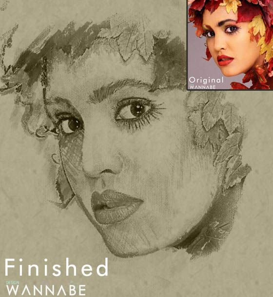 Tutorial - Convert a photo to sketch drawing in Photoshop from http://designwannabe.com/2010/09/convert-photo-to-sketch-drawing-photoshop-tutorial/