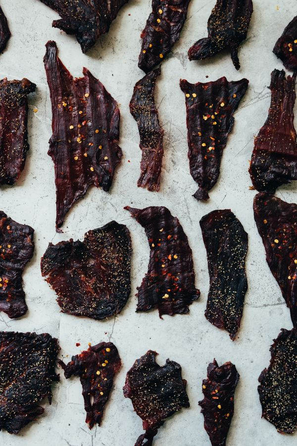 Peppered Beef Jerky Spicy Beef Jerky Beef Jerky Food Photography Jerky Recipes Smoked Beef Jerky Beef Jerky Recipes