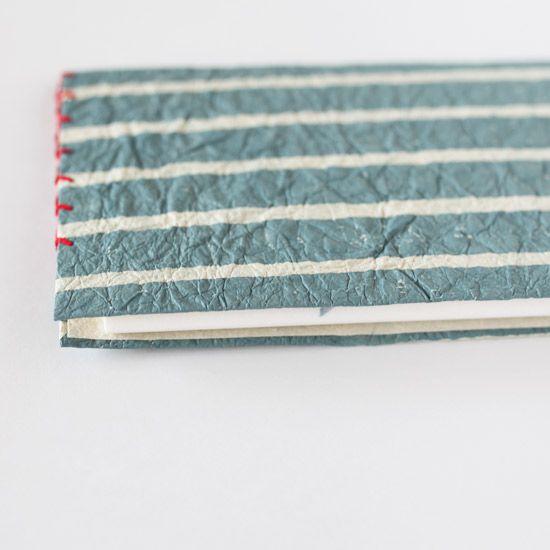 懐紙入れ(濃ねず縞/木版楮和紙)+懐紙12枚(金魚鉢/雨玉舎) - テイルライツ道具店 #TailLights