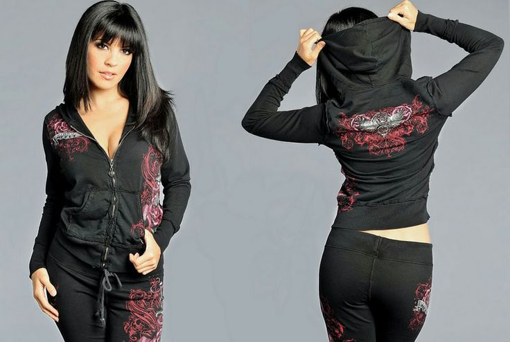 Sinful Roses tracksuit black [Sinful Tracksuit] - $55.00 : Affliction clothing sale online,wholesale Affliction clothing online, Affliction ...