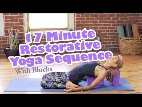 17-Minute Restorative Sequence With Yoga Blocks