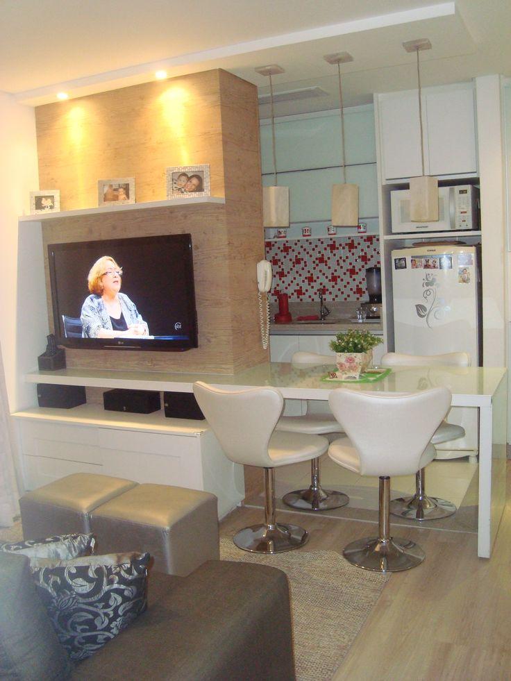 Sala De Jantar Integrada ~  DE JANTAR INTEGRADA  HOME THEATER  SALAS  Pinterest  Mesas, Home