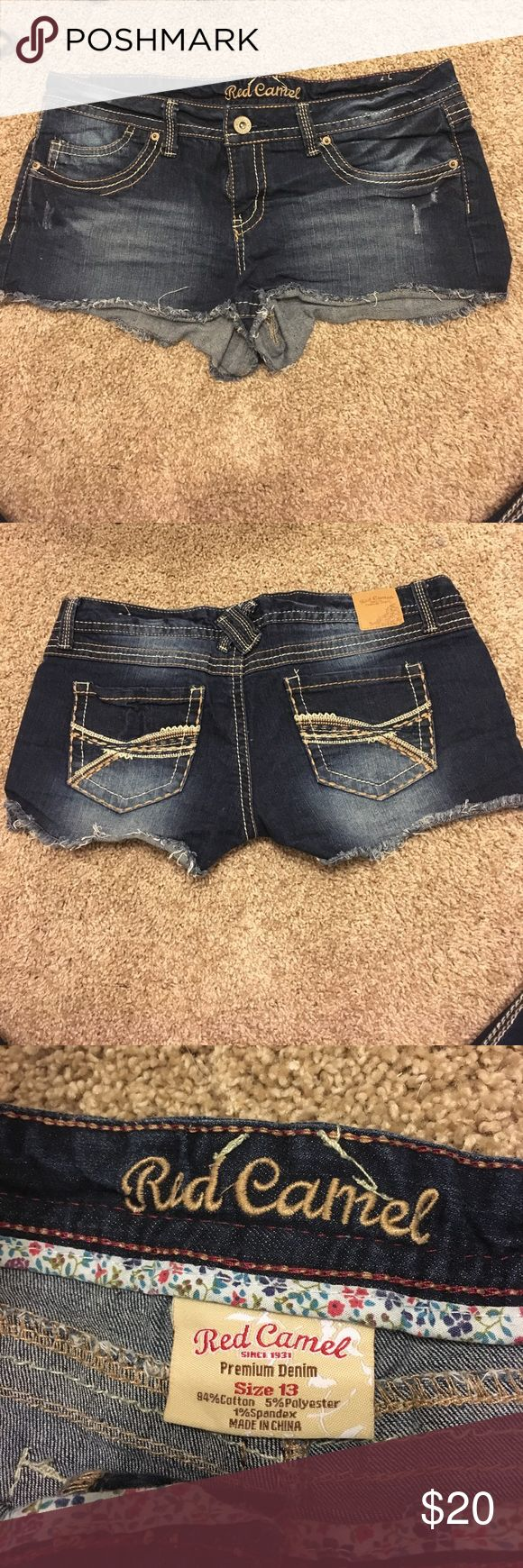 Red Camel Booty shorts size 13 They were worn for one summer. Good condition. VERY short. Feel free to make offer Red Camel Shorts Jean Shorts