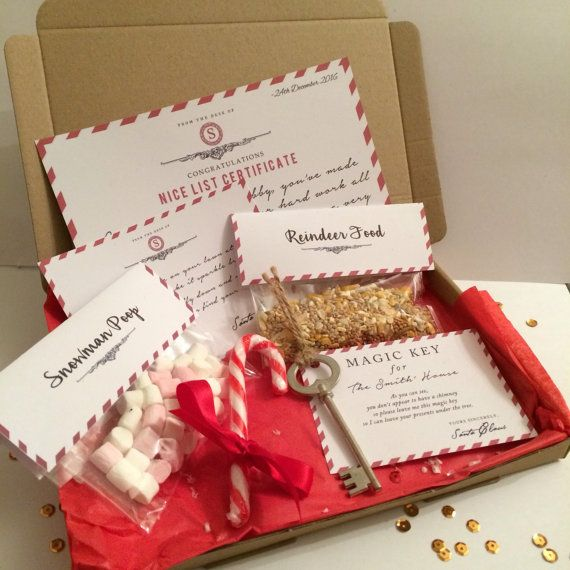 Personalised Christmas Eve Box | Nice List | Reindeer Food | Magic Key
