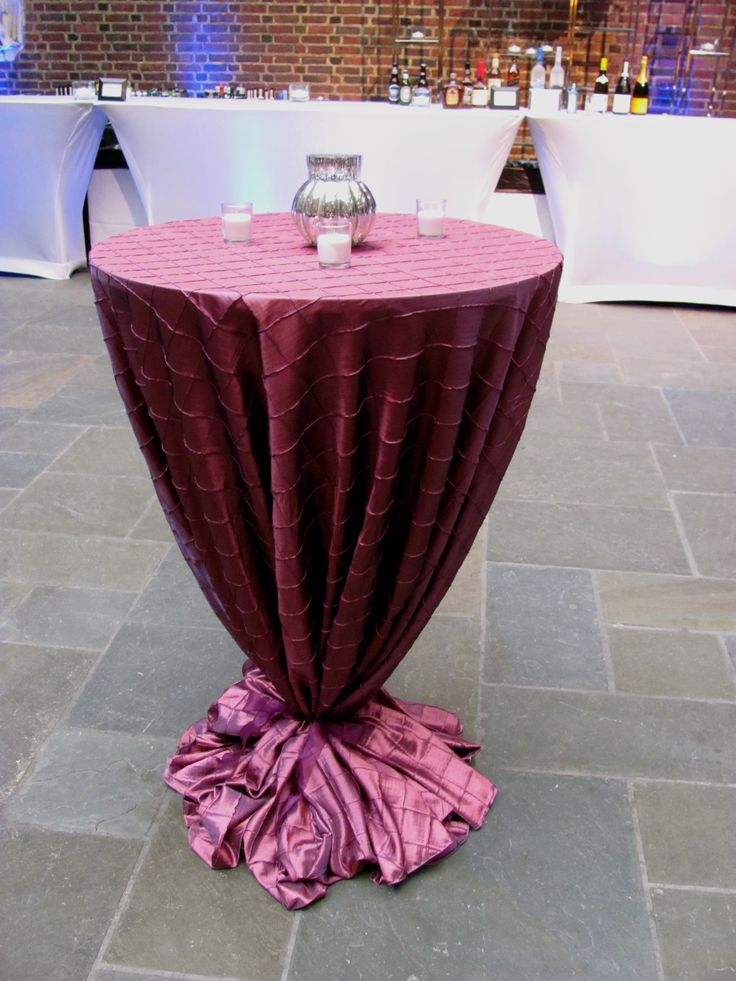 Elegant Pin Tuck High Top Table. Tablecloth ...