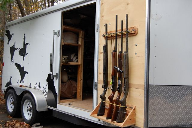 Pictures of the ultimate goose hunting trailer I purchased from you guys last winter | trailersuperstore.com