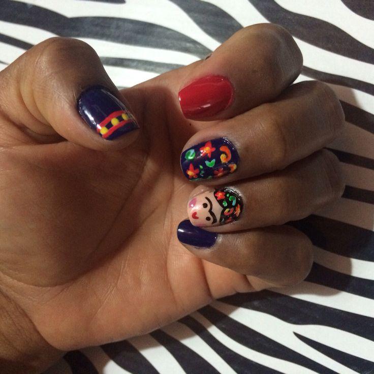 Nails kiut!!! Frida Kahlo