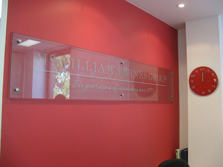McWilliams Wines #CSI #recpetion #signage