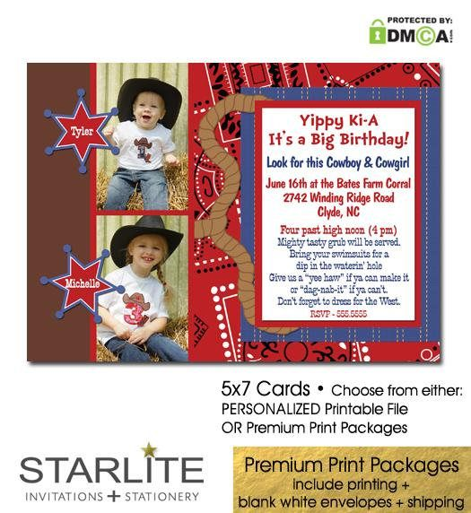 Double Birthday Party Invitations, Western Double #papergoods @EtsyMktgTool http://etsy.me/2jNud8K