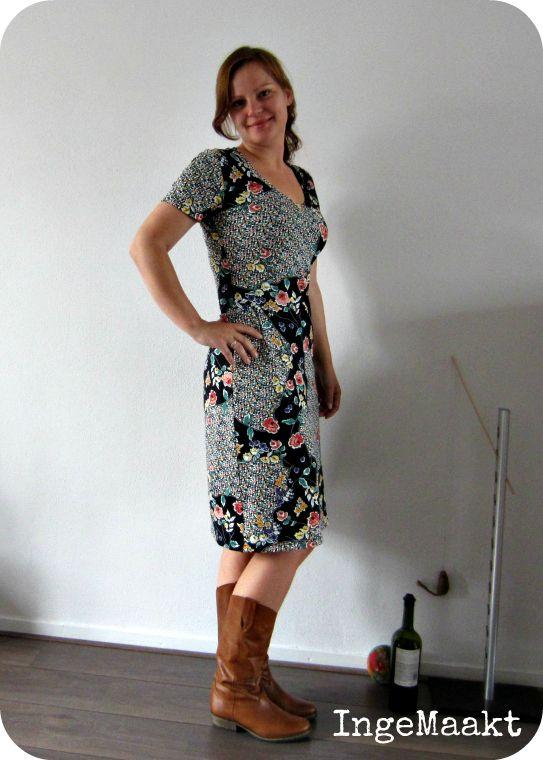 patroon jurk tricot
