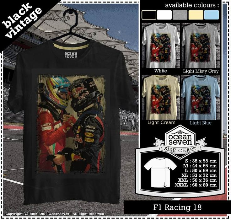 Kaos Balap F 1 | Formula One Racing  series 2