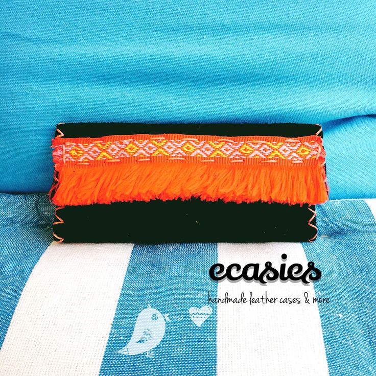 Handmade in Greece! Beautiful leather tobacco case with boho style detail! Love it