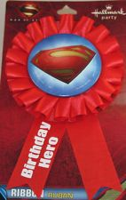 SUPERMAN ~ (1) Guest of Honor Ribbon ~ Birthday Party Supplies