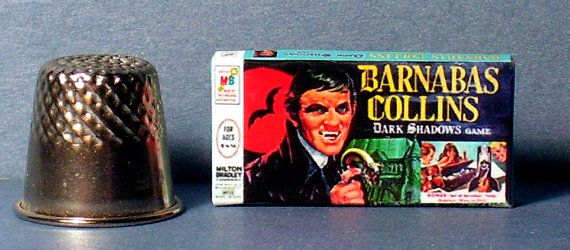 Barnabas Collins Game - Dollhouse Miniature - 1:12 scale Dollhouse Accessory - 1960s Dollhouse Haunted House Halloween Vampire game toy