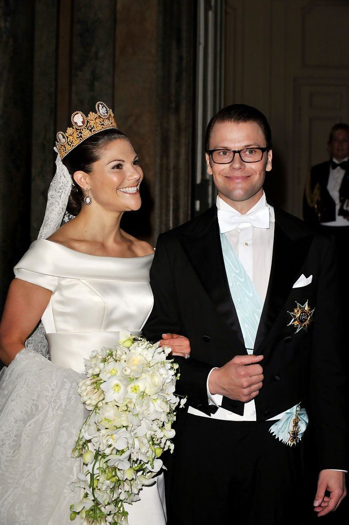 Crown Princess Victoria Of Sweden And Her Husband Prince Daniel Attend Their Wedding Banquet At The Royal Palace On June 2010 In Stockholm