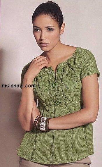 Милая вязаная кофточка от Lana Grossa