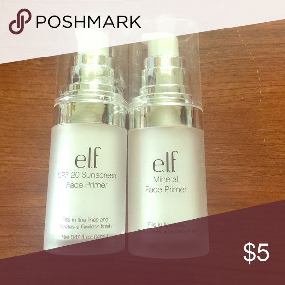 Elf primers! One of them has been used a couple of times in the other one has never been used! ELF Makeup Face Primer