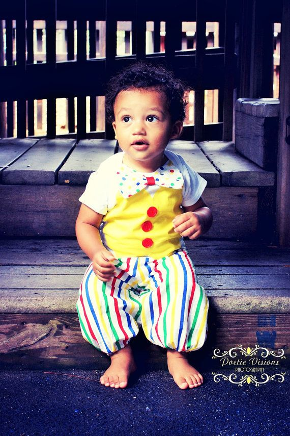Baby/Toddler Birthday outfit Clown Birthday Outfit by RYLOwear